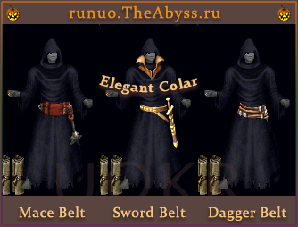 Ultima Online: Mace Belt, Sword Belt, Dagger Belt, Elegant Collar
