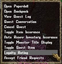 Ultima Online: Loyalty Rating