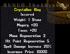 Ultima Online. Crystalline Ring
