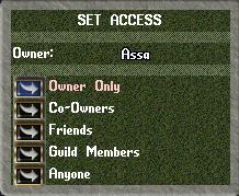 Ultima Online: House Menu Secured Item