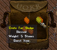 Ultima Online: Crate for Sledge the Versatile
