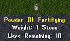 Ultima Online: Powder of Fortifying